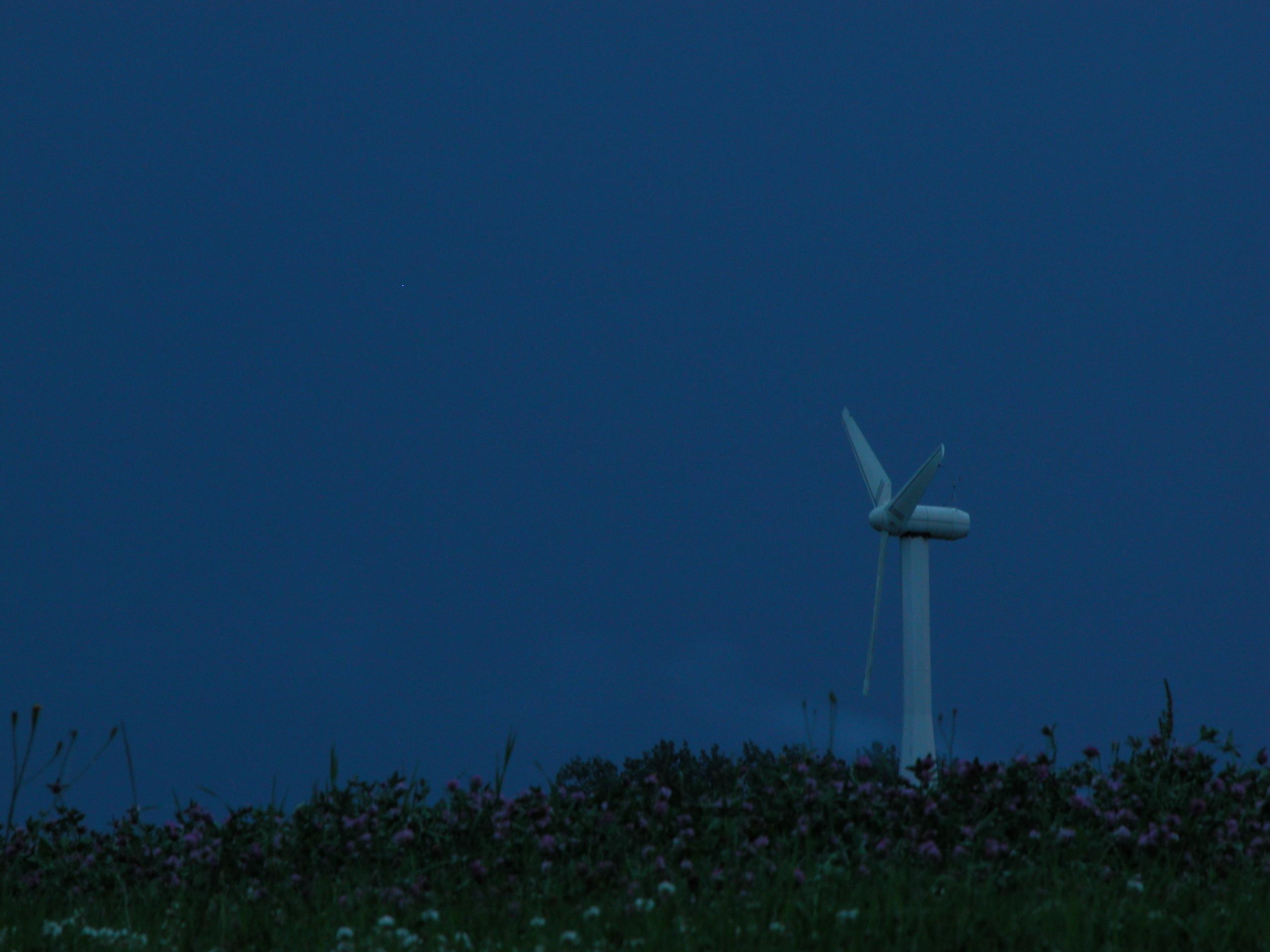 dark sky night dark star stars blue darkblue windmill fan electric