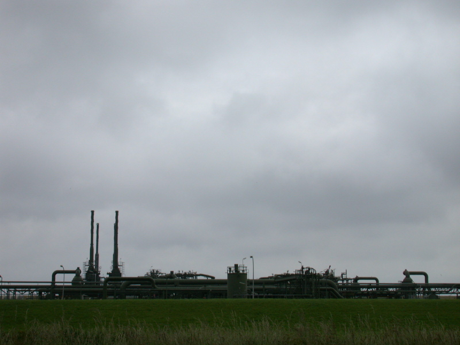 industry pipes gas factory chimney