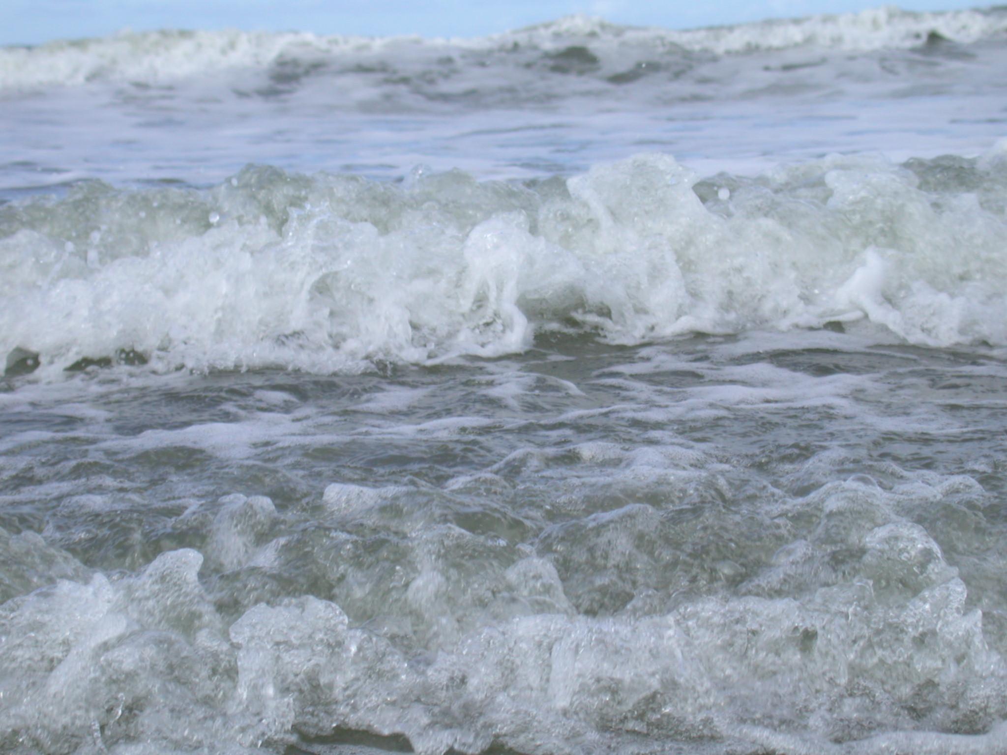 waves beach water sea ocean