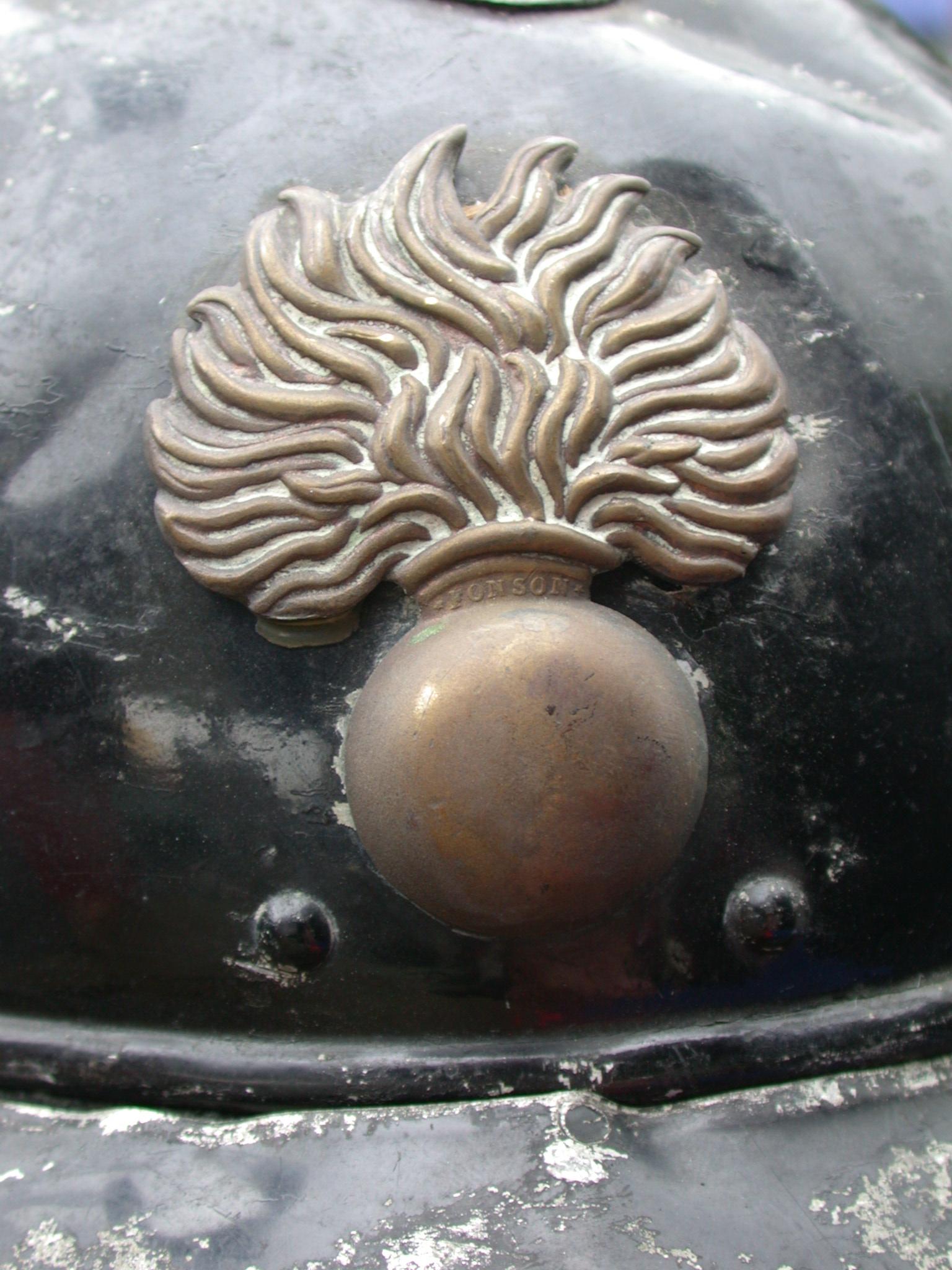 bomb art sculptures police signs logo fire helmet copper fonson