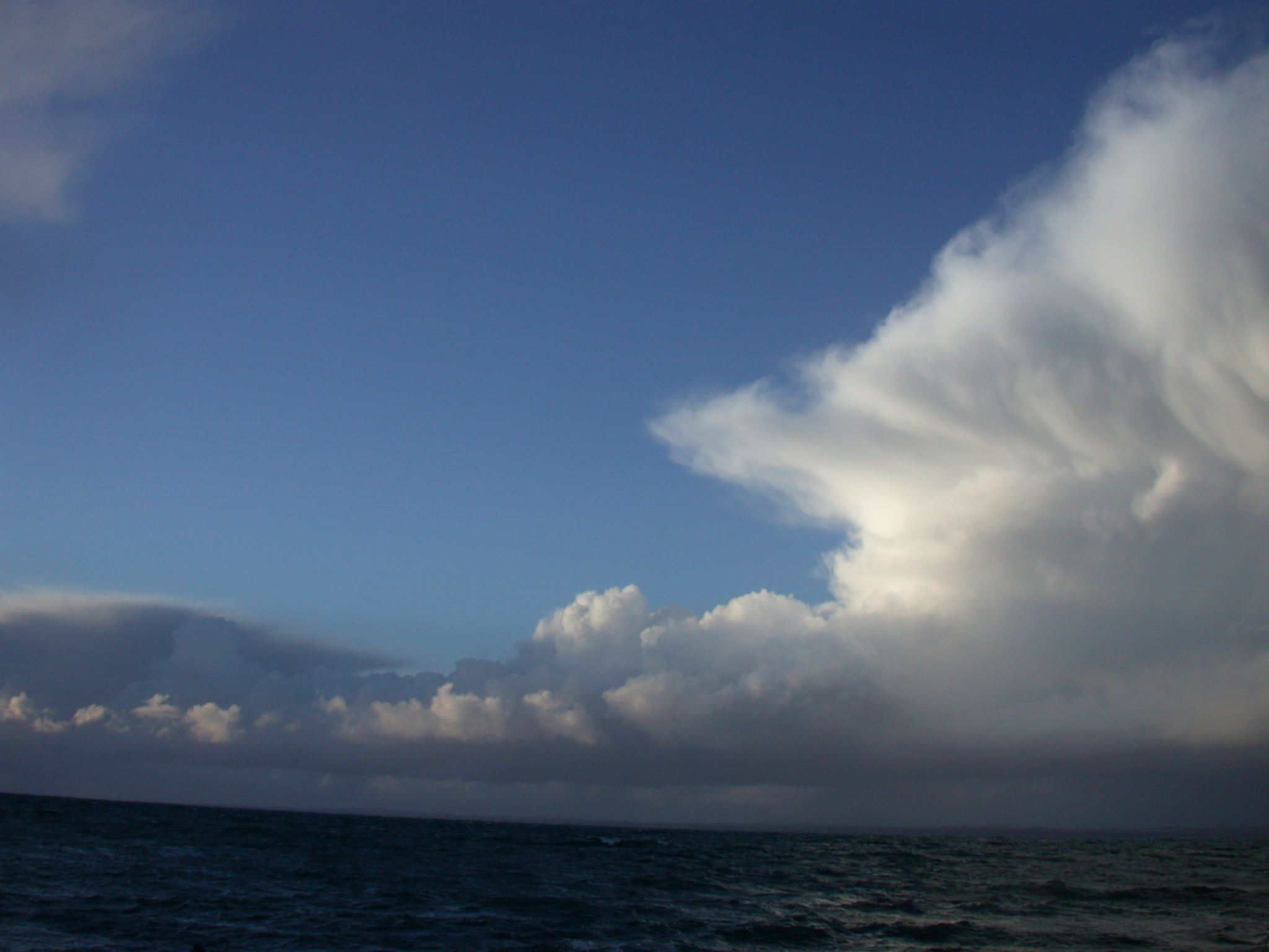 clouds water sea ocean bad weather there is a storm coming fluffy
