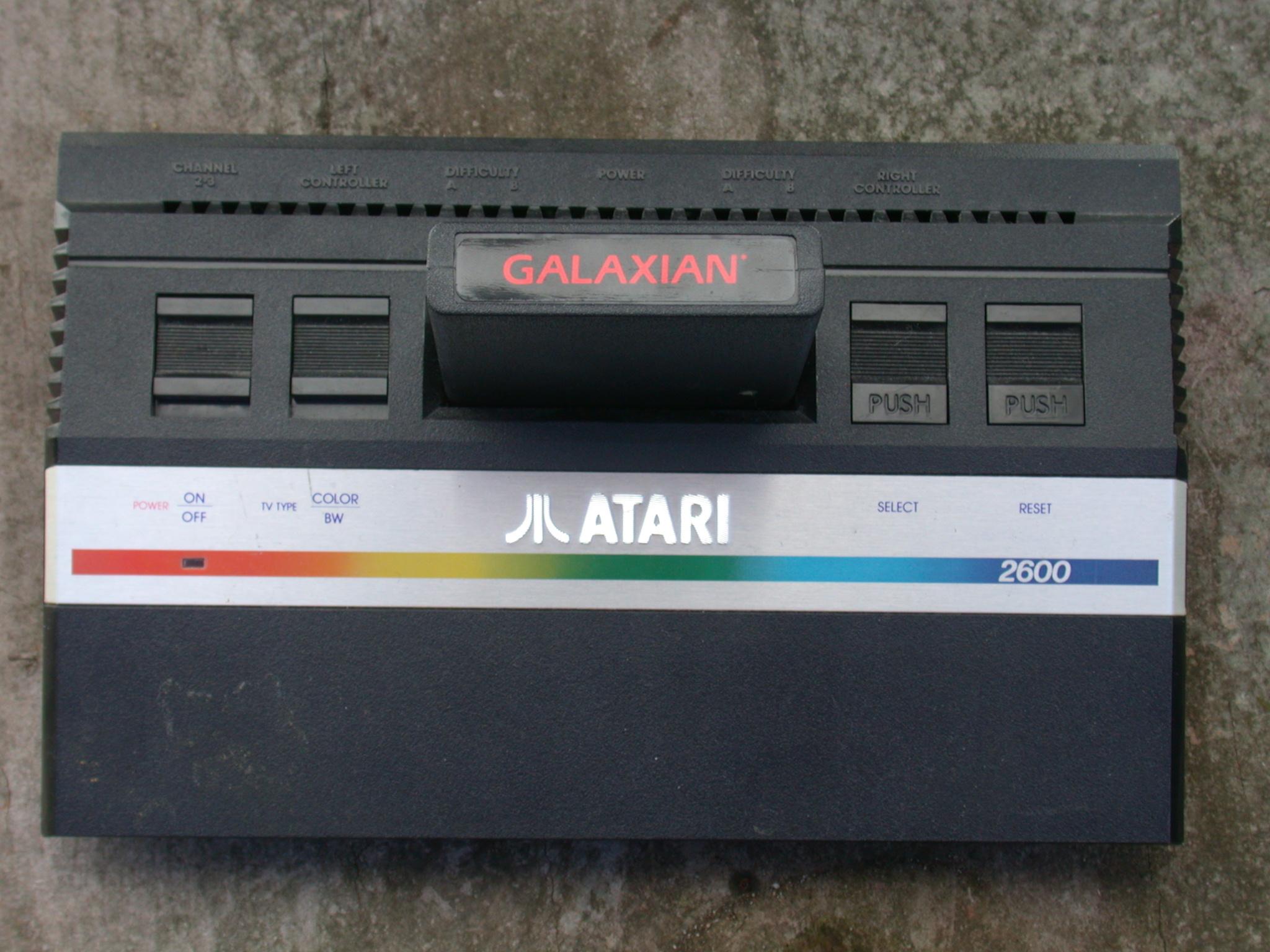 atari 2600 classic gaming console galaxian cartridge seventies eighties 70s 80s