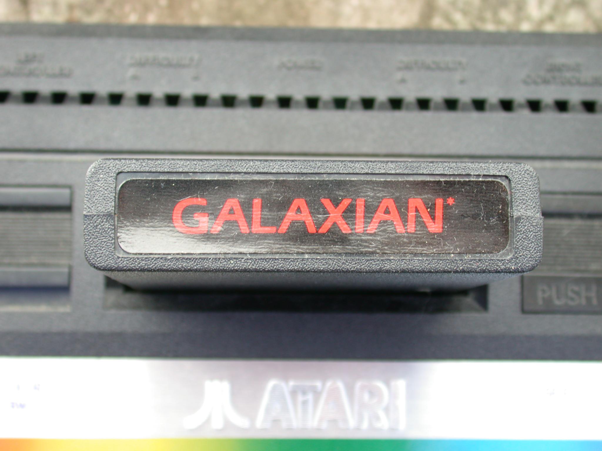 galaxian game cardrige atari console