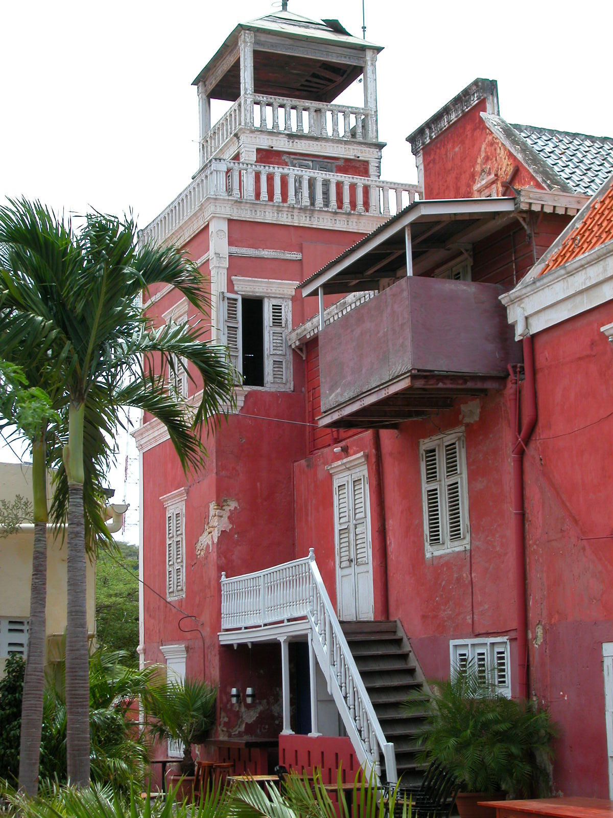 jacco curacao architecture exteriors bar stairs house red balcony