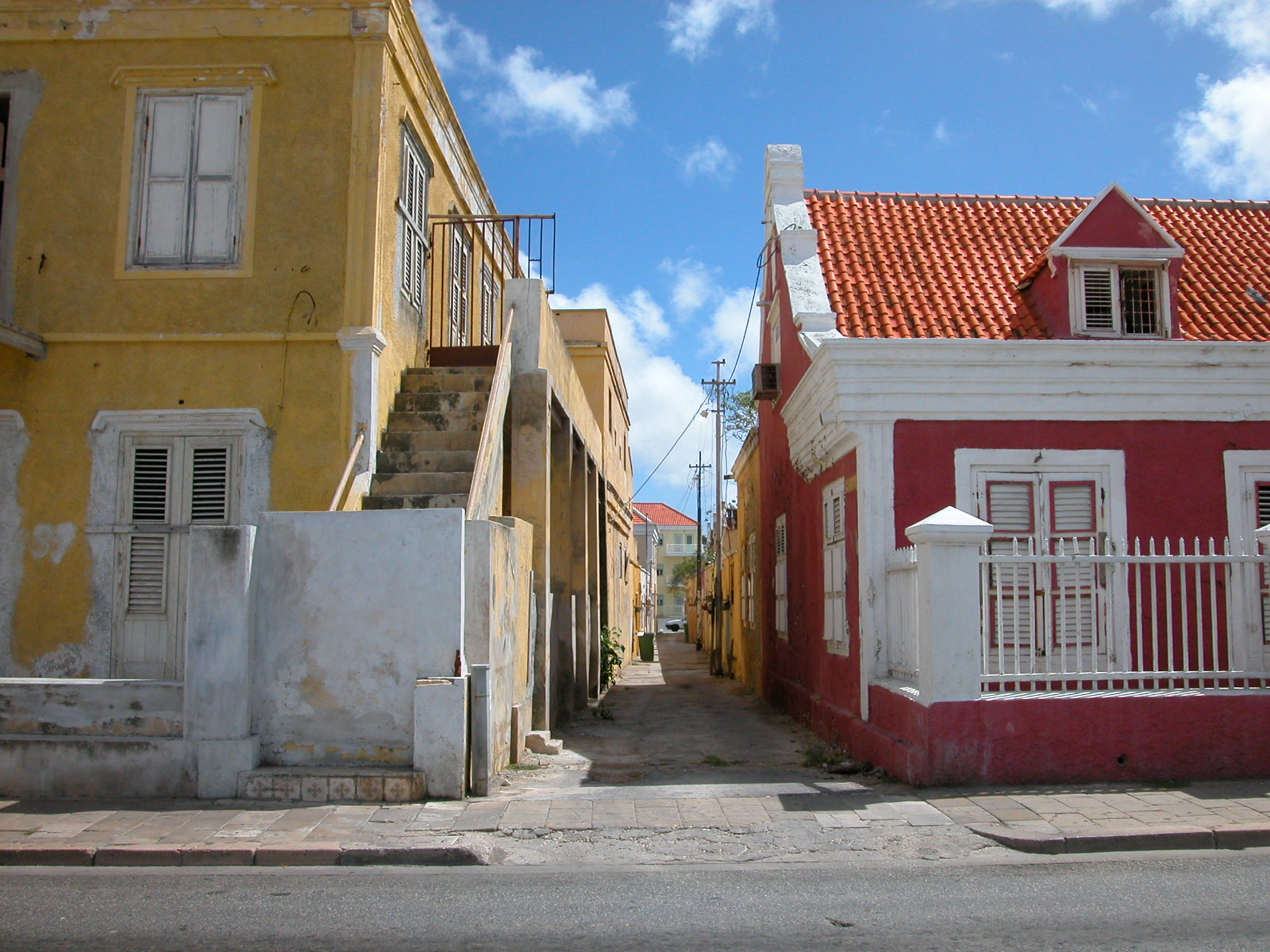 jacco curacao architecture exteriors street city village alley houses royalty free