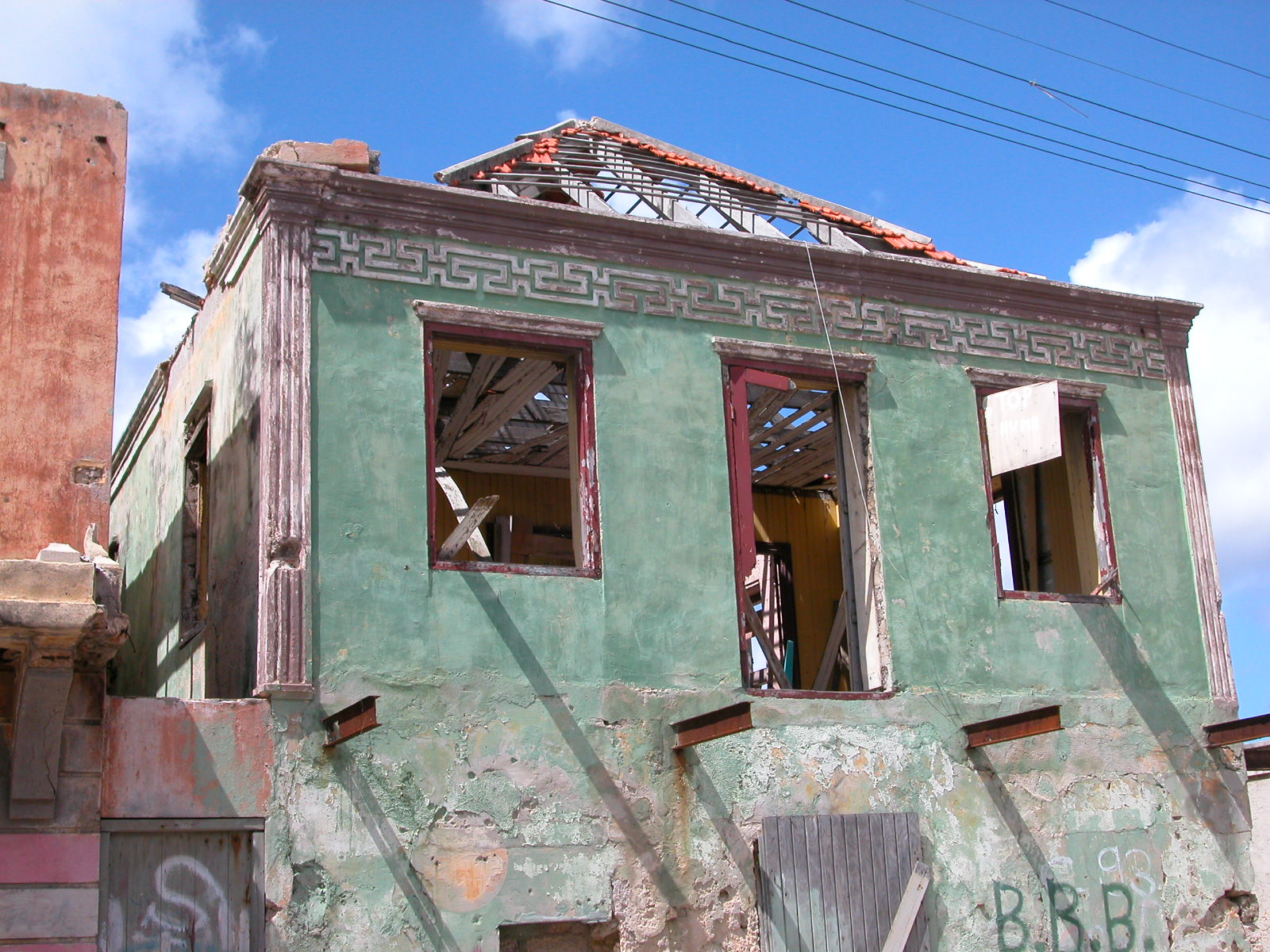architecture exteriors jacco curacao ruine modern greek fascade window wall house