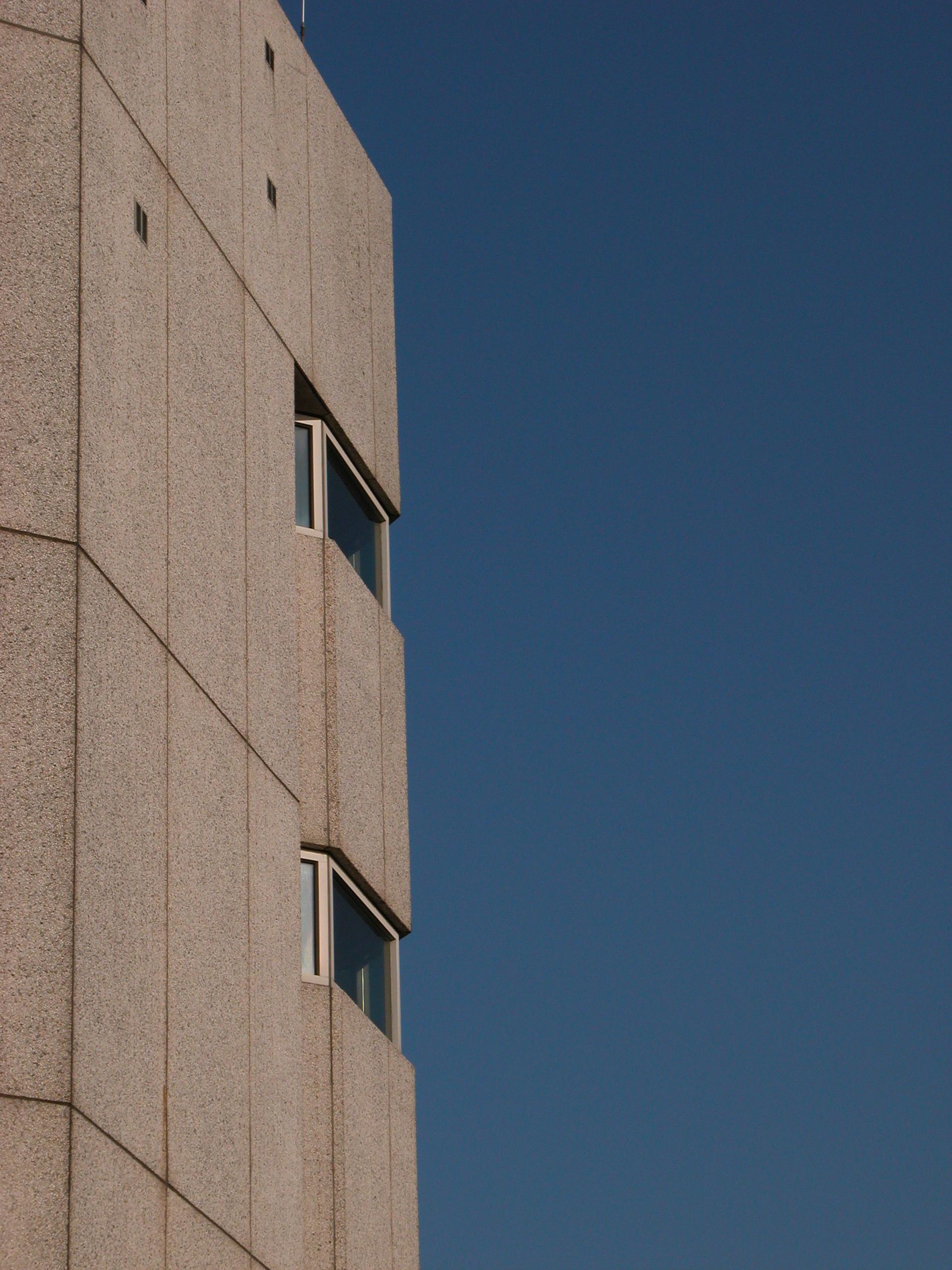 architecture exteriors flat concrete windows house
