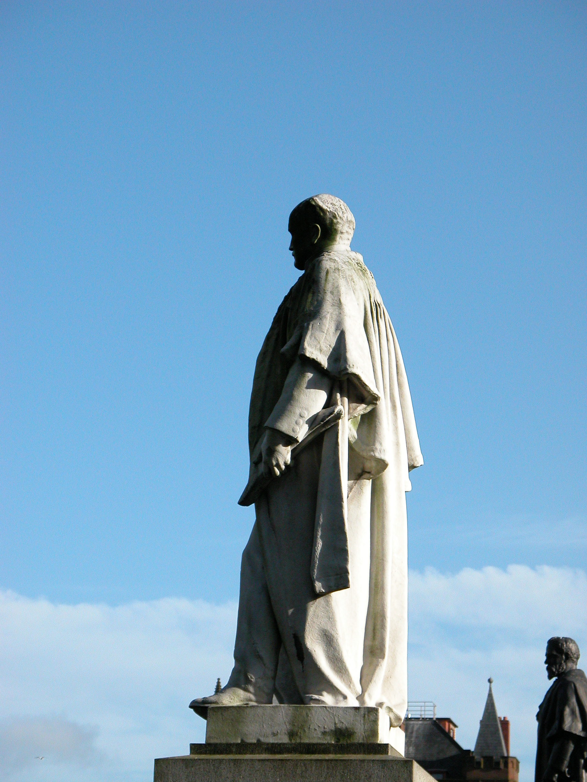 statue standing rock marble person saint holy carve carved stone out of chirstianity patriarch