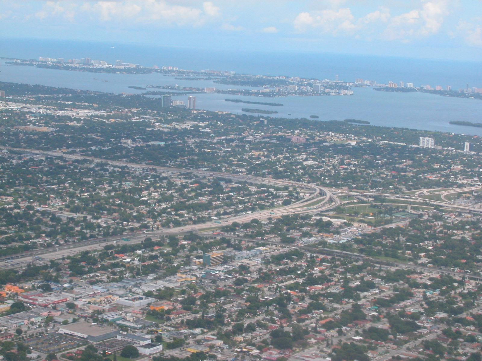city aerial shot coast textures