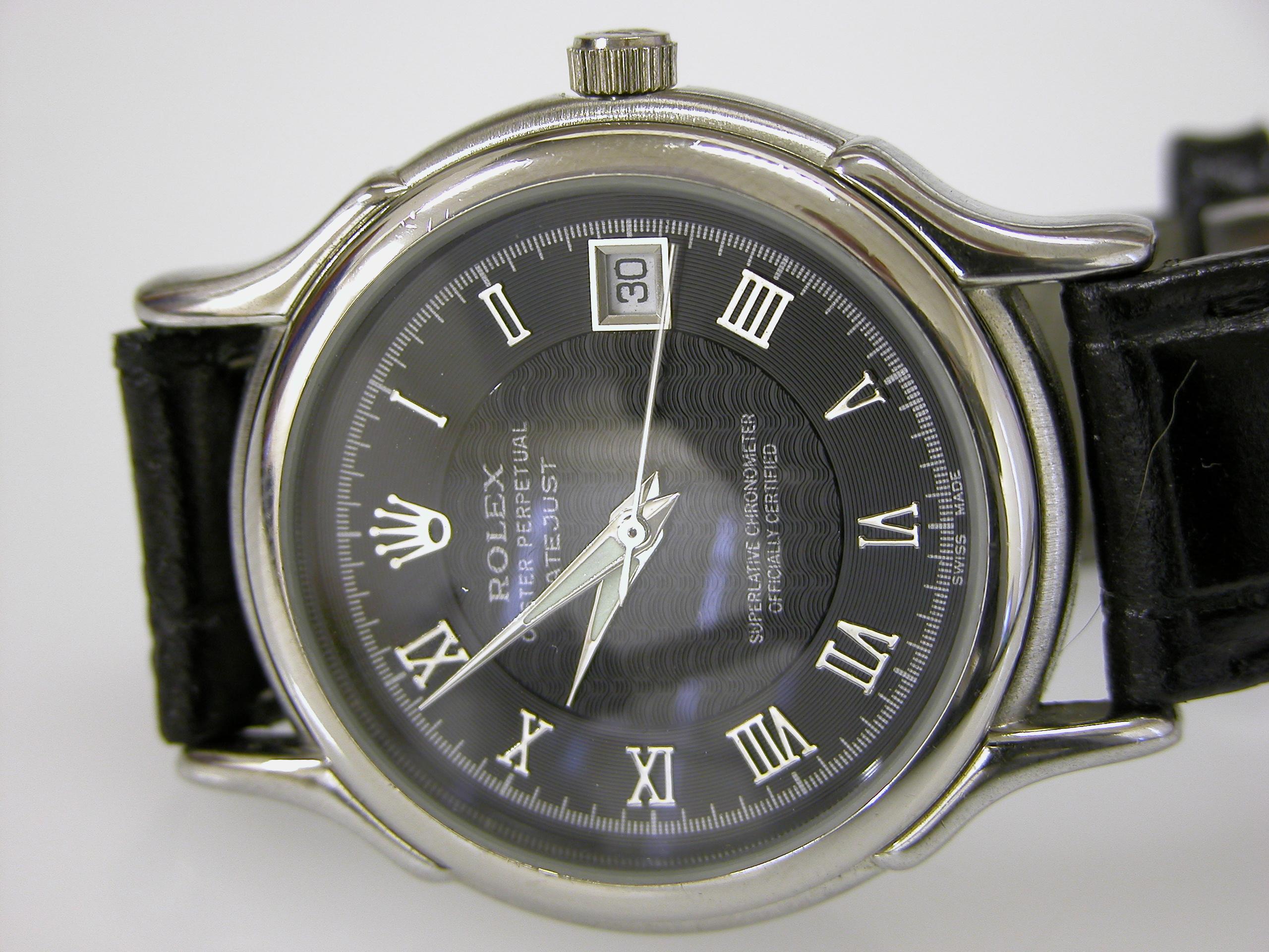 watch wrist wrist-watch wristwatch roman numerals rolex silver