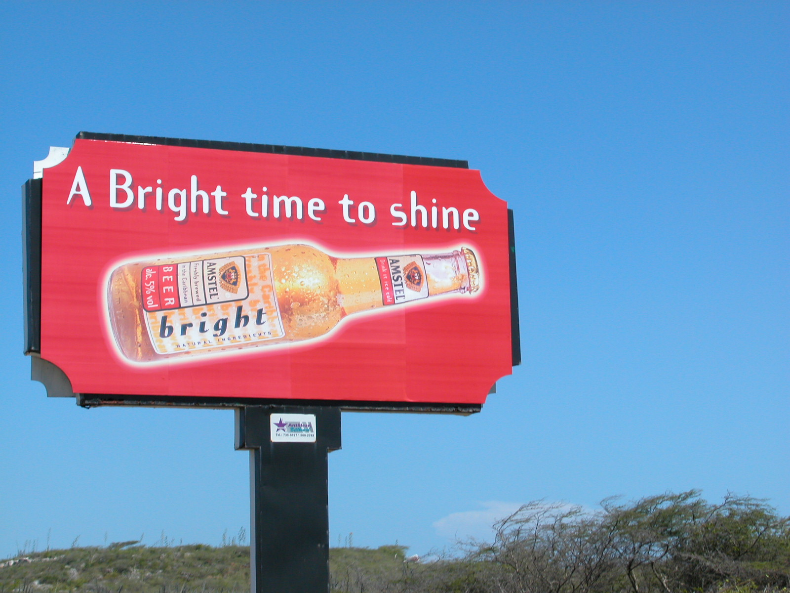 sign commercial amsterl beer bottle a bright time to shine