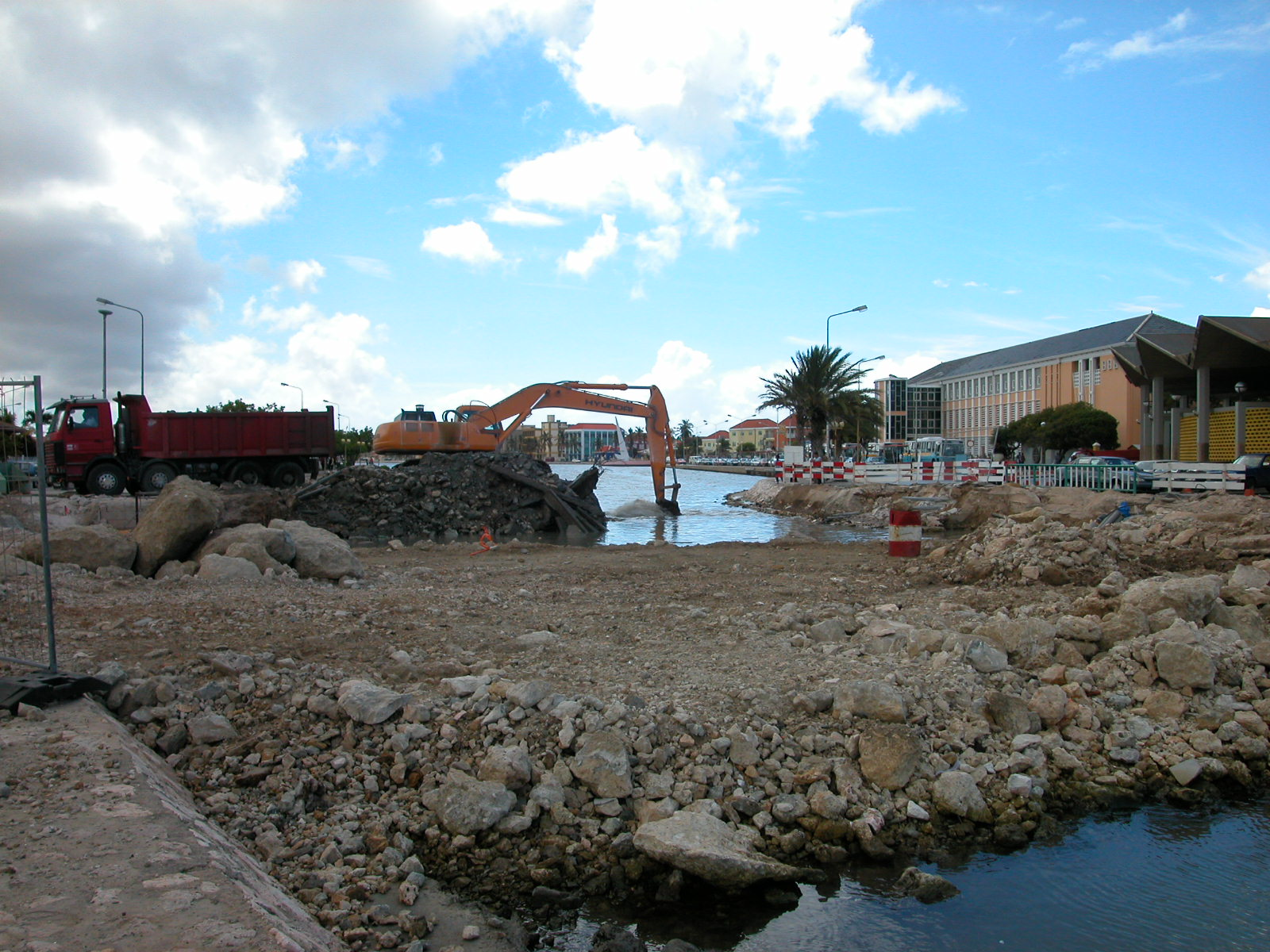 jacco port harbor harbour truck crane dig digging construction site rubble