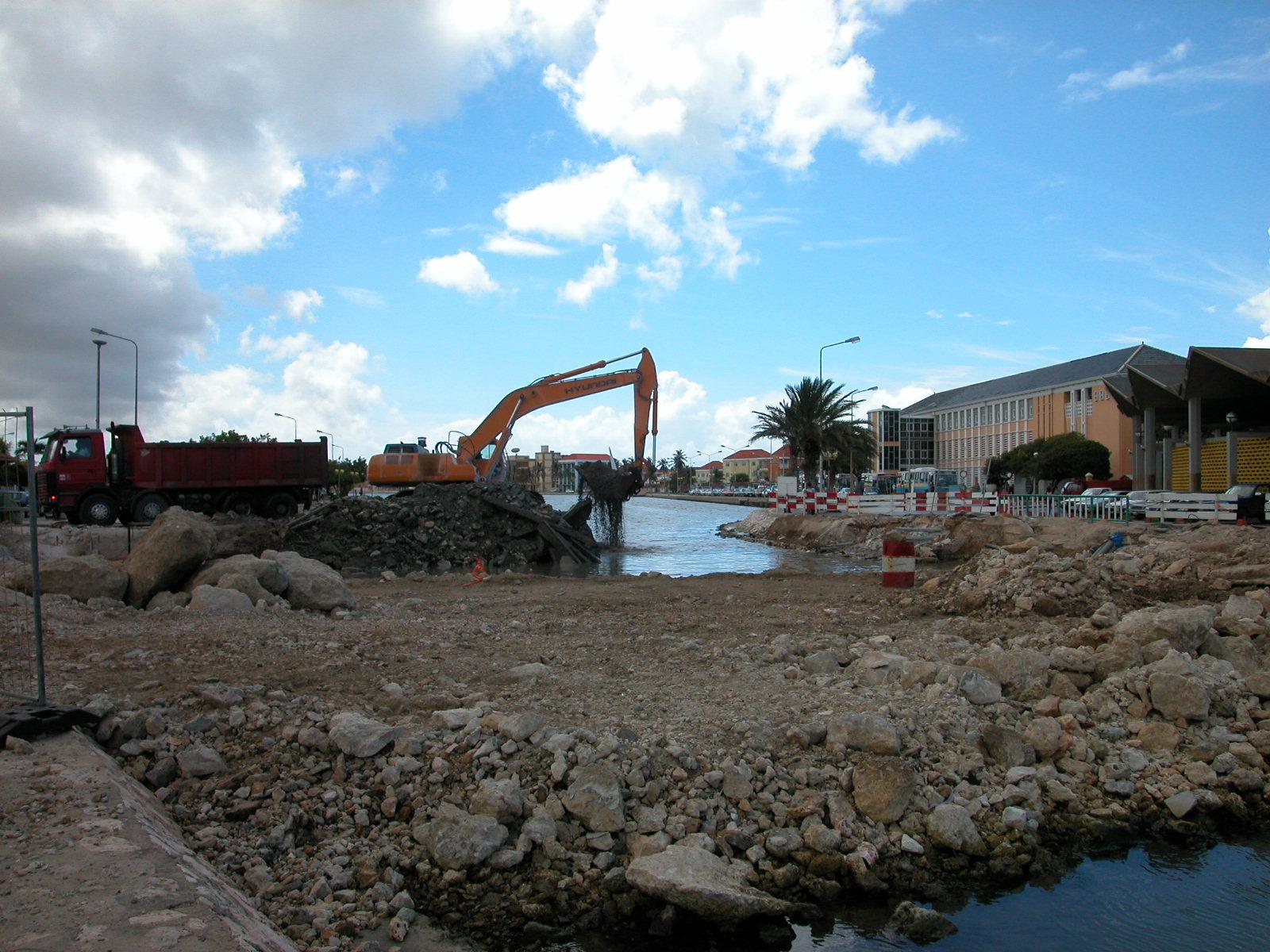 jacco constructing construction site build harbor harbour crane rubble