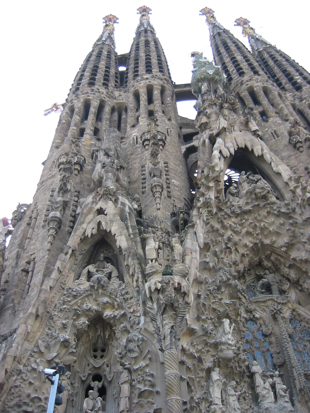 architecture exteriors sagradafamilia spain barcelona cathedral tower towers ornamented gaudi