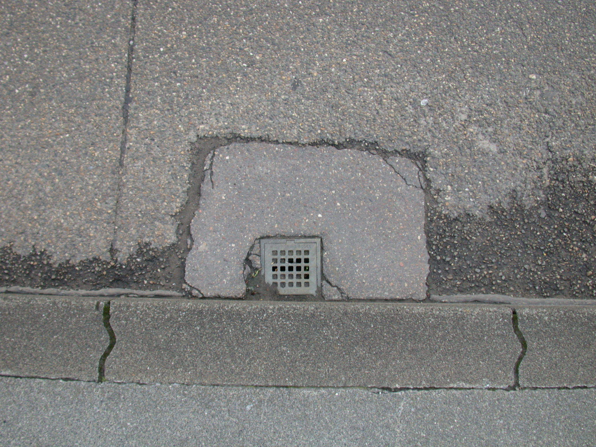 grounds street asphalt drain sidewalk texture