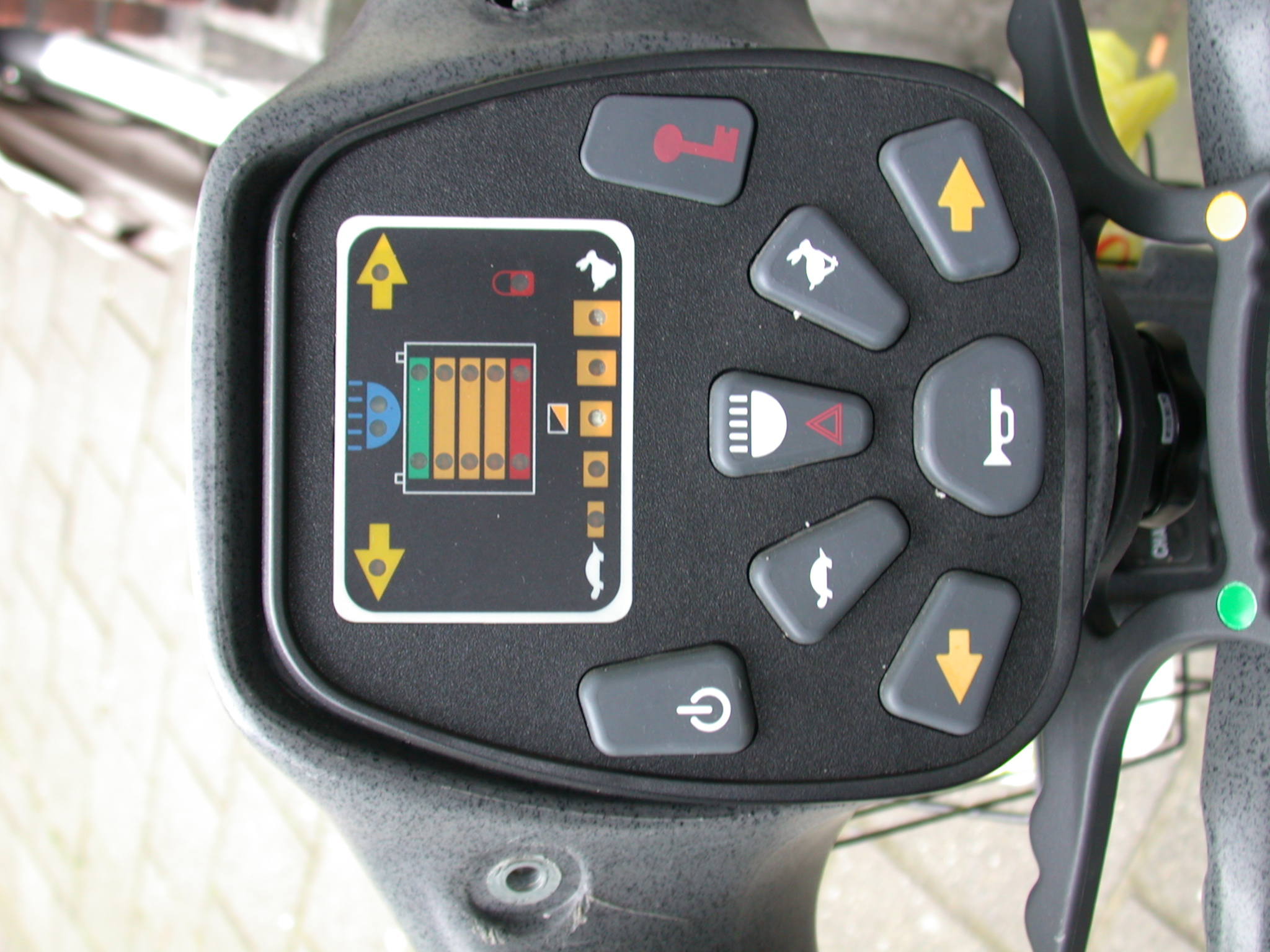 controles buttons conole direction speed electrical cart