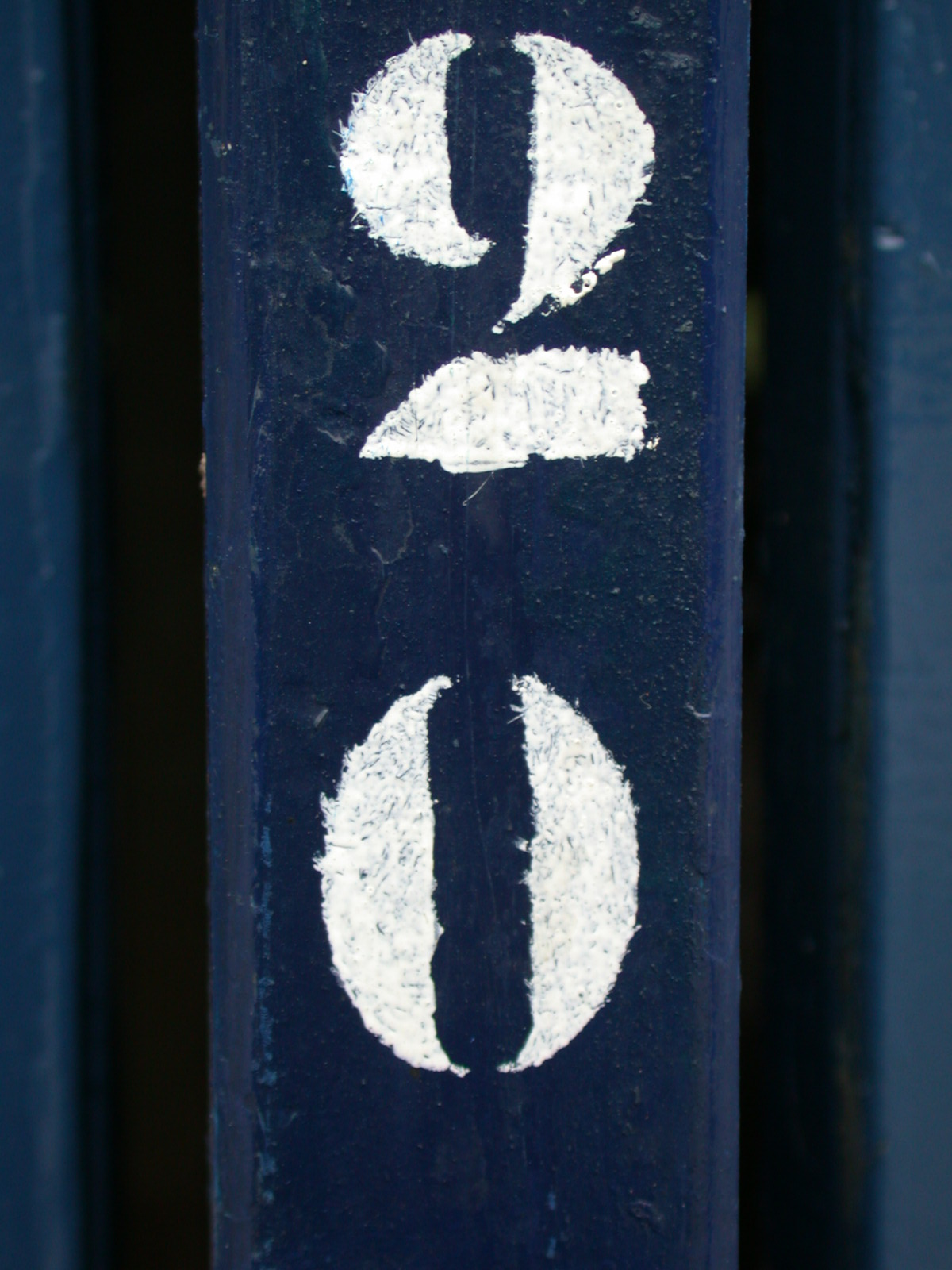 scripts typo typography painted numbers 2 0 antique blue