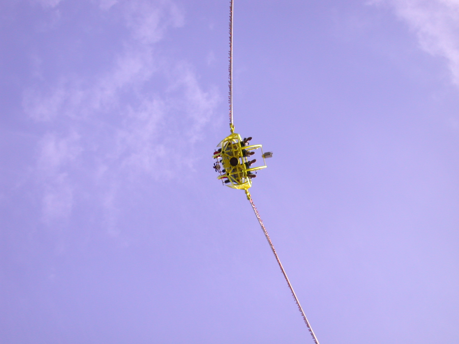 bungee ball people in attraction fairground entertainment thrill adrenaline